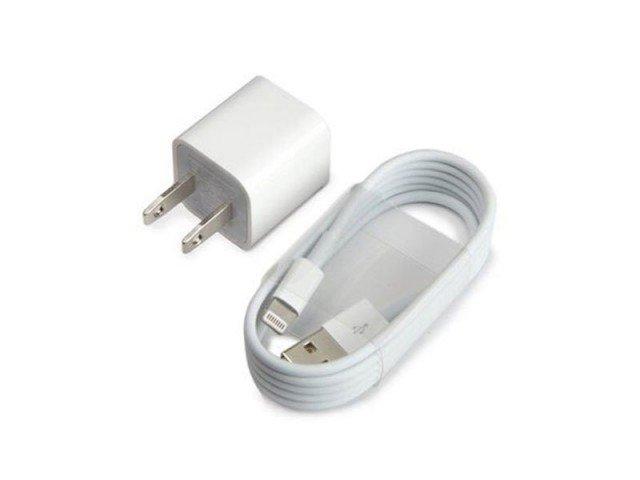 شارژر اصلی آیفون همراه با کابل Apple iphone AC Adapter 2 Pin