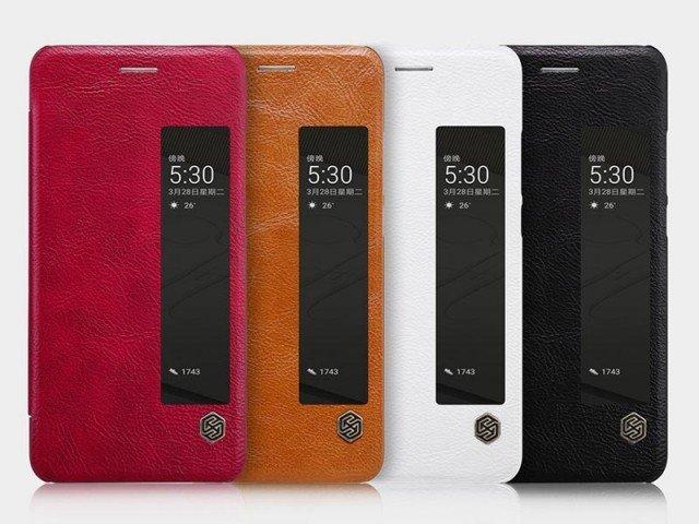 کیف محافظ چرمی نیلکین Nillkin Qin Leather Case For Huawei P10 Plus