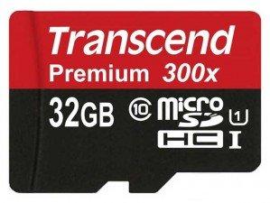 کارت حافظه Transcend Class 10 Premium 300X 32GB