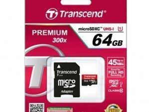 Transcend Class 10 Premium 300X 64GB