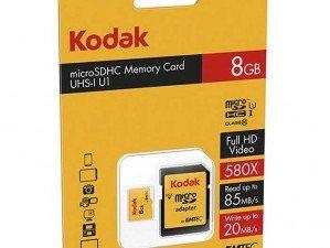 کارت حافظه Emtec Kodak UHS-I U1 Class 10 85MBps 580X microSDHC 8GB