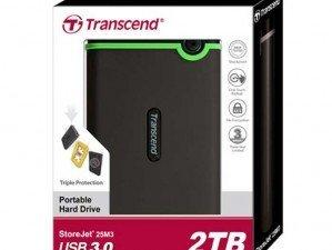 Transcend Storejet 25M3 2TB external hard disk