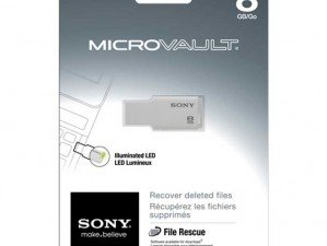 Sony MicroVault USM8GM/W 8GB FLASH MEMORY