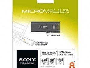 Sony Micro Vault USM8GR 8 GB FLASH MEMORY