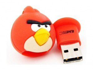 Emtec Angry Birds Red 8GB flash memory