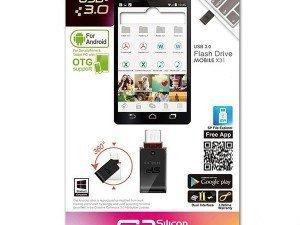 Silicon Power Mobile X31 OTG USB Flash Memory 64GB