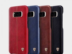 قاب محافظ چرمی نیلکین Nillkin Englon Leather Case For Samsung S8