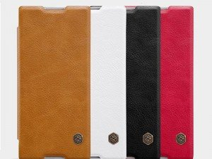 کیف محافظ چرمی نیلکین Nillkin Qin Leather Case For Sony Xperia XA1