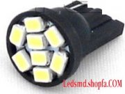 2XT10 w5w 8 SMD 3020 Car LED Bulbs