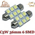 Power Xenon White 36mm Festoon 5050 6 SMD
