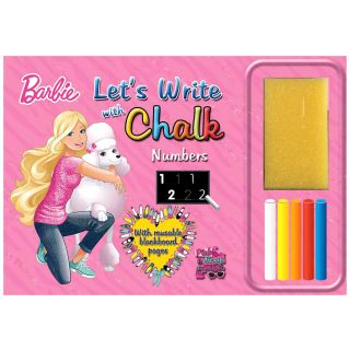 BARBIE LET'S WRITE with CHALK NUMBERS