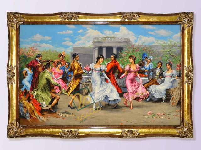 تابلو فرش نقاشی رقص