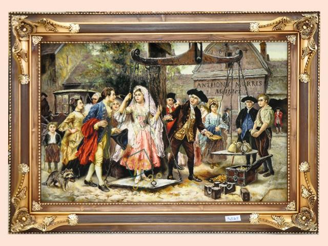 تابلو فرش مهریه عروس