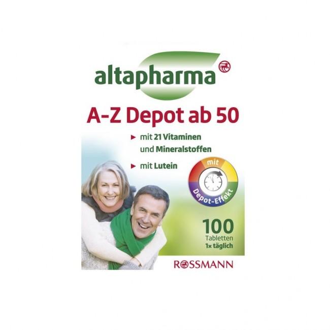 قرص مولتی ویتامین آلتافارما A-Z Depot ab 50 (100 عددی)