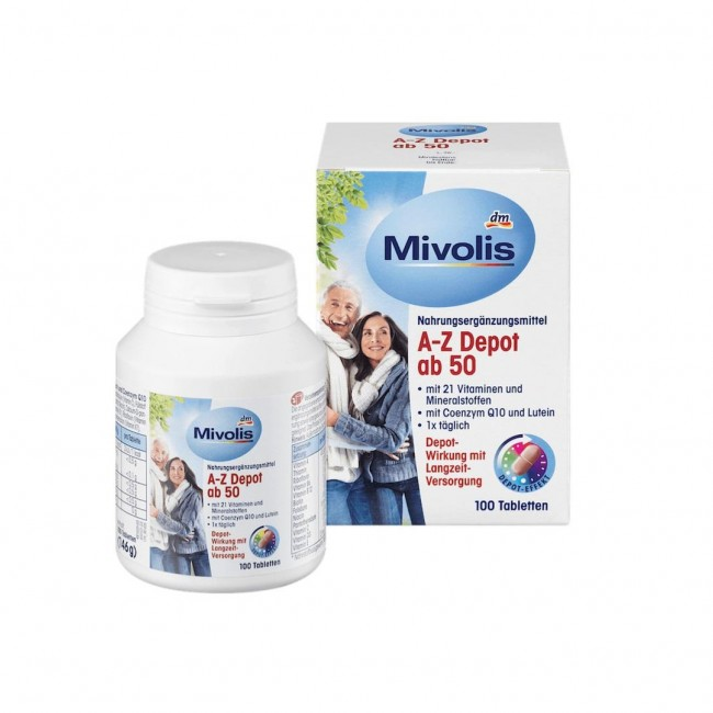 قرص مولتی ویتامین موولیس A-Z Depot ab 50 (100 عددی)