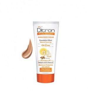 دیترون ضد آفتاب کرم پودری کارامل فاقد چربی Spf 40