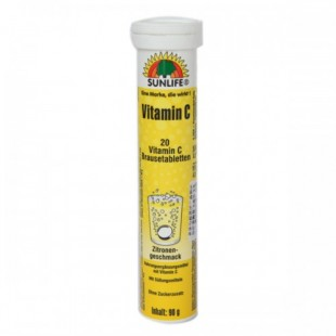 قرص ویتامین C جوشان سان لایف (90 گرمی)