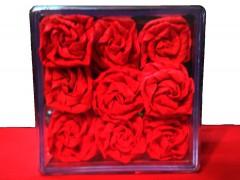 جعبه هدیه گل رز
