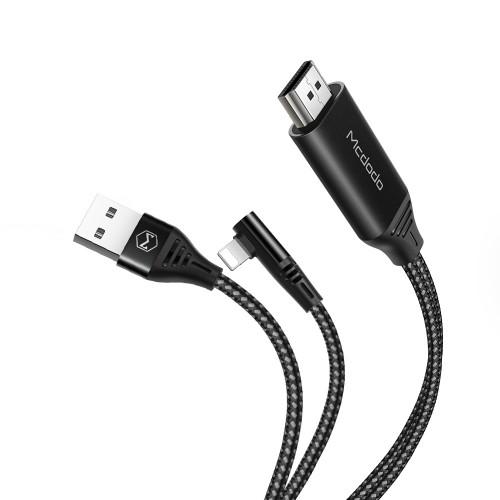 کابل تبدیل لایتنینگ به HDMI 4K مک دودو مدل CA-640 طول 2 متر