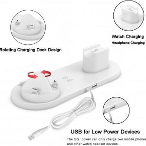 داک شارژ 4 در 1 موبایل ، اپل واچ و ایرپاد پای بلو