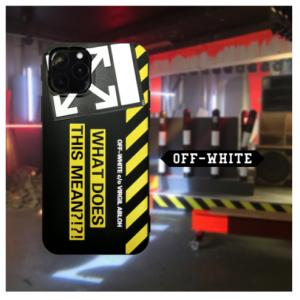 قاب موبایل طرح OFF-White بهمراه 2 بند مناسب برای موبایل آیفون