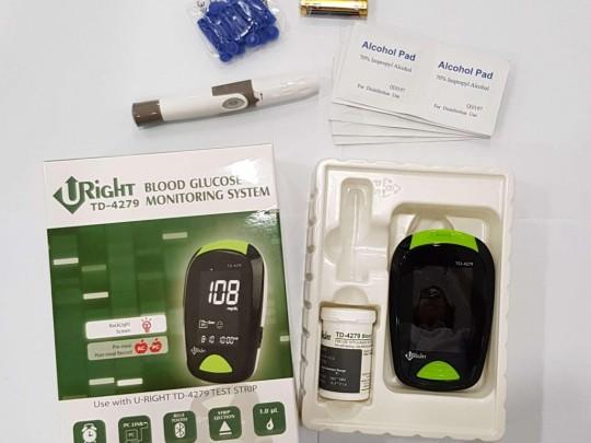دستگاه تست قند خون یو رایت مدل TD-4279 به همراه 10 عدد نوار