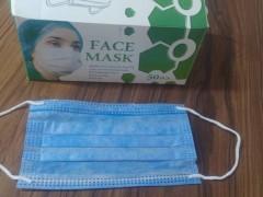 ماسک پزشکی سه لایه کشی جعبه دار بسته 500 عددی