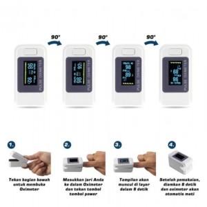 پالس اکسیمتر (9 جدید) Fingertip Pulseoximeter با باتری