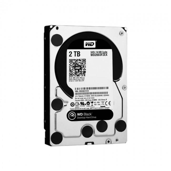 هارد دیسک اینترنال وسترن دیجیتال سری مشکی ظرفیت ۲ ترابایت