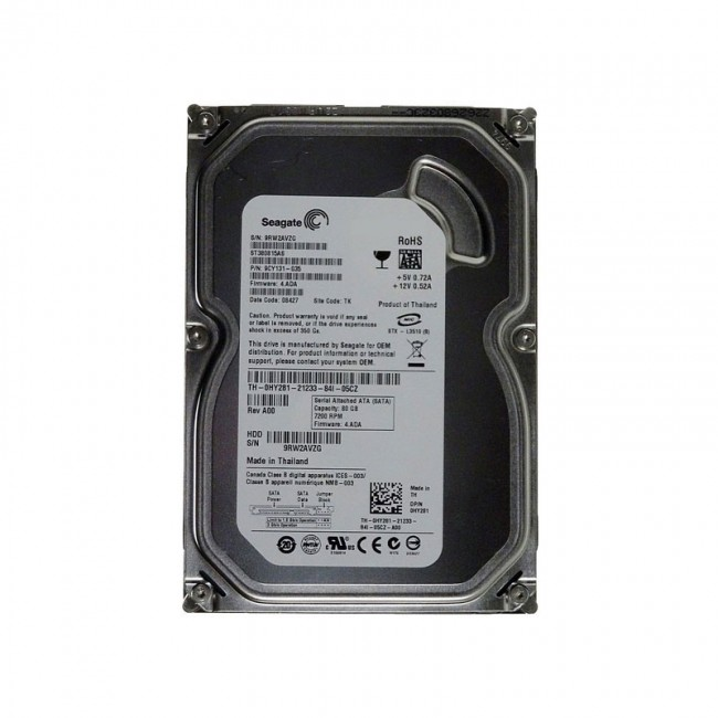 هارد دیسک اینترنال سیگیت ظرفیت ۸۰ گیگابایت - ریفر