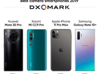 چهار گوشی هوشمند که کیفیت دوربین آنها بیشترین امتیاز DxoMark را در سال ۲۰۱۹ کسب کرده اند.