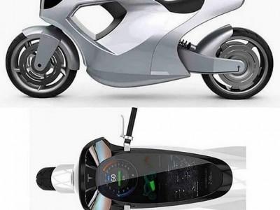 طرحی مفهومی از موتور سیکلت خودران کمپانی تسلا.