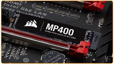 SSD MP400 m.2 NVMe Corsair با 8 ترابایت حافظه ذخیره سازی