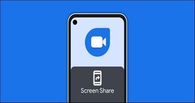 روش به اشتراک گذاری صفحه در اپلیکیشن اندرویدی Google Duo