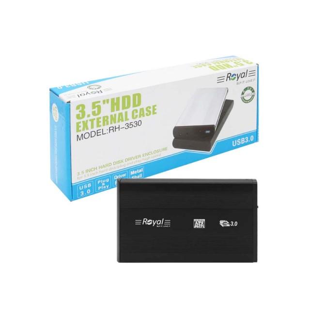 باکس تبدیل هارد 3.5 اینچی رویال  USB3.0 مدل RH-3530