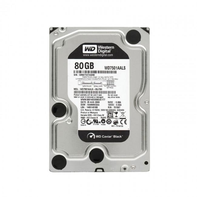 هارد دیسک اینترنال وسترن دیجیتال مدل IDE سری مشکی ظرفیت ۸۰ گیگابایت شرکتی