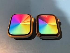 تصویری از تفاوت ابعاد نمایشگر اپل واچ سری 7 با نسل گذشته منتشر شد