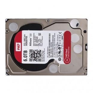 هارد دیسک اینترنال وسترن دیجیتال سری قرمز ظرفیت ۶ ترابایت