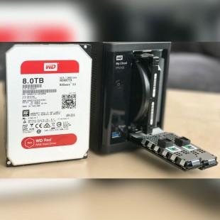 هارد دیسک اینترنال وسترن دیجیتال سری قرمز ظرفیت ۸ ترابایت