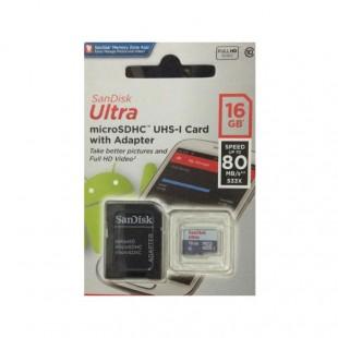 کارت حافظه سن دیسک مدل Ultra ظرفیت ۱۶ گیگابایت