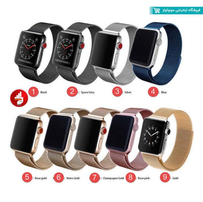 بند اپل واچ فلزی Millanese مناسب برای ساعت هوشمند اپل 38-40-42-44 ميلي متري
