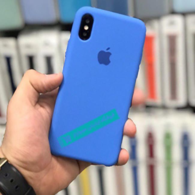 قاب سیلیکونی آیفون مناسب برای کلیه گوشی های iphone( آبی)