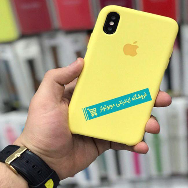 قاب سیلیکونی آیفون مناسب برای کلیه گوشی های iphone( لیمویی)
