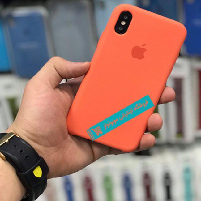 قاب سیلیکونی آیفون مناسب برای کلیه گوشی های iphone( نارنجی)