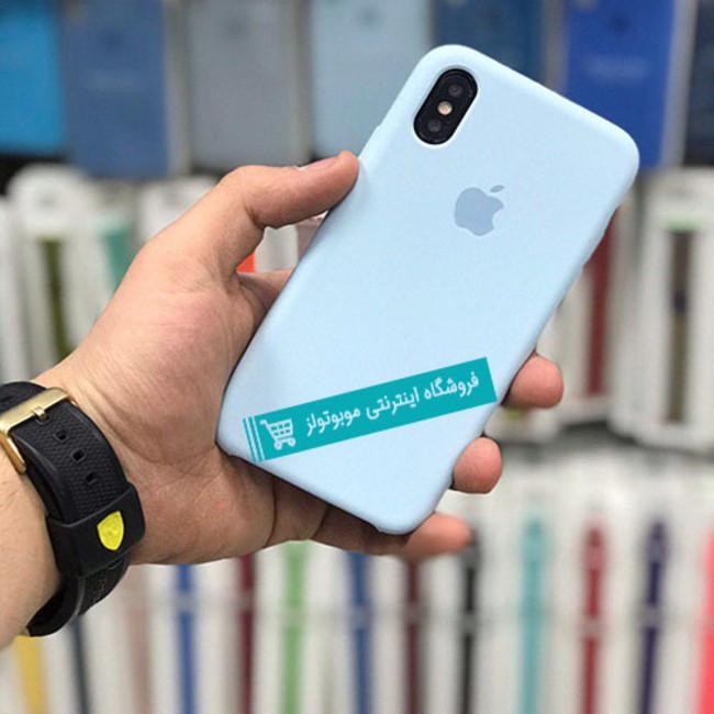 قاب سیلیکونی آیفون مناسب برای کلیه گوشی های iphone(آبی آسمانی)