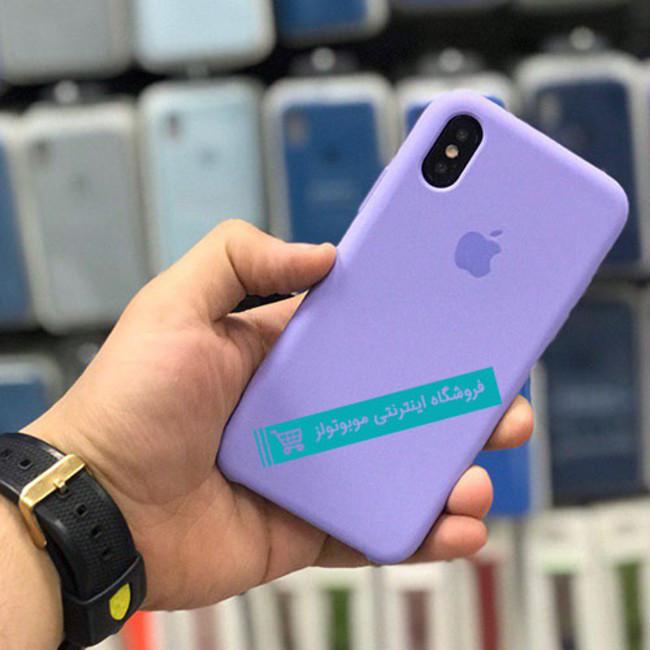 قاب سیلیکونی آیفون مناسب برای کلیه گوشی های iphone(آبی بنفش)