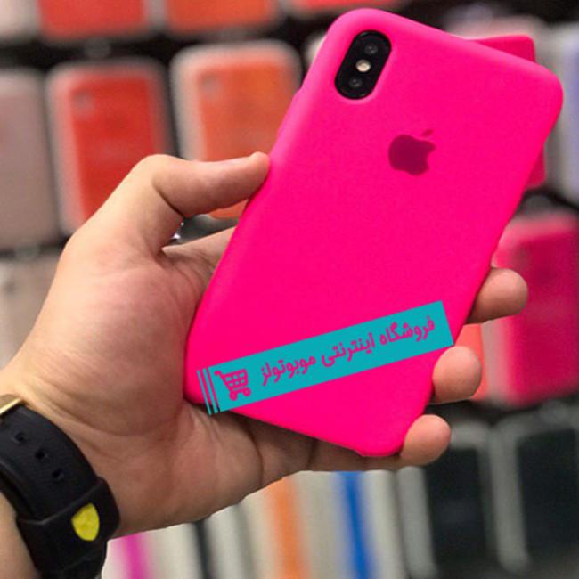 قاب سیلیکونی آیفون مناسب برای کلیه گوشی های iphone(سرخابی)