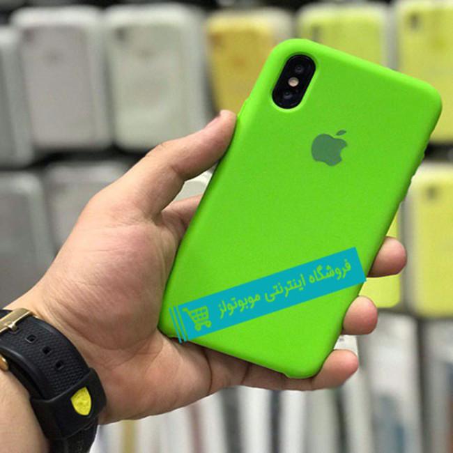 قاب سیلیکونی آیفون مناسب برای کلیه گوشی های iphone(سبز)