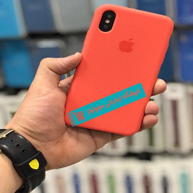 قاب سیلیکونی آیفون مناسب برای کلیه گوشی های iphone (قرمز گوجه ای)
