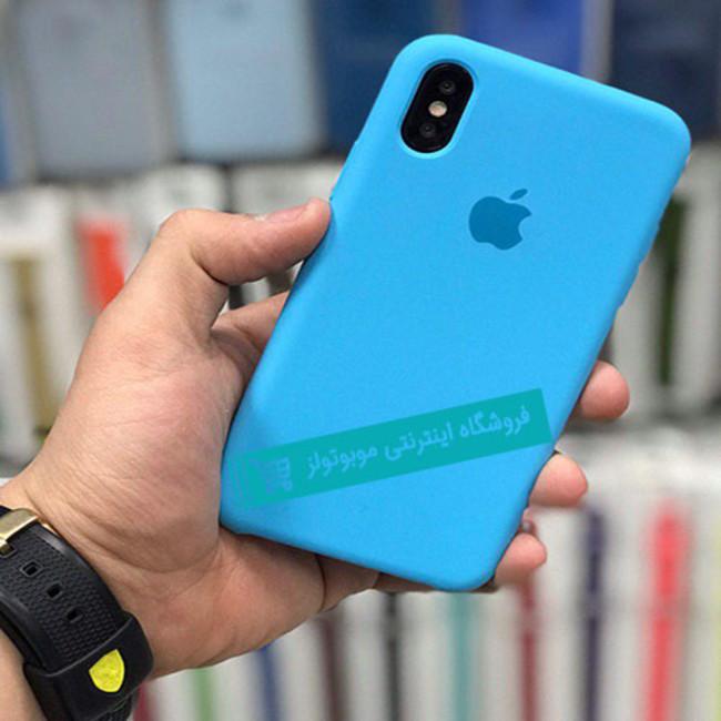 قاب سیلیکونی آیفون مناسب برای کلیه گوشی های iphone (نیلی)